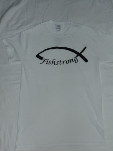White Short Sleeved Fishstrong Logo T-Shirt